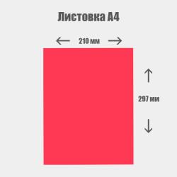 Дизайн с нуля. Листовка А4 210x297 мм